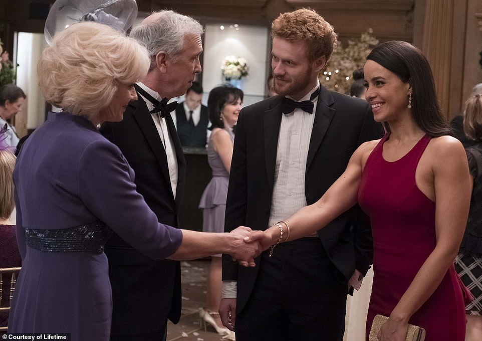 Back again: Several actors are returning for the third movie, including Deborah Ramsay as the Duchess of Cornwall (left) and Steve Coulter as Prince Charles (center left)