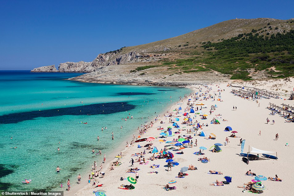 The latest blow for British holidaymakers comes as travel bosses today slammed Downing Street's 'utterly confusing' advice on foreign holidays and demanded the 'green list' is quickly expanded. Pictured: Mallorca, Spain
