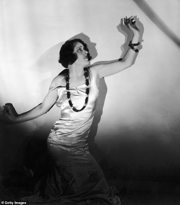 Inspirational: Dodie's actress friendJoyce Kennedy (pictured in 1930) made an off-colour remark that a dalmatian would 'make a nice fur coat,' inspiring the monstrous Cruella de Vil