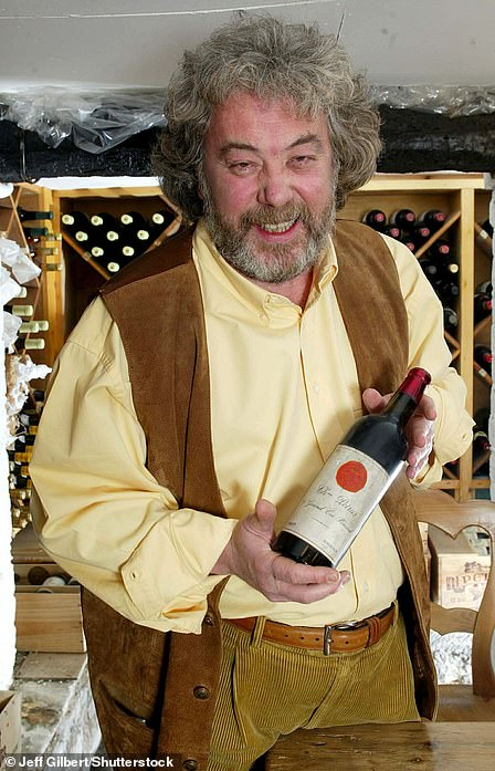 Outlandish: Mr Dennis was known for a love of swearing and listed his interests as 'planting trees and drinking wine'