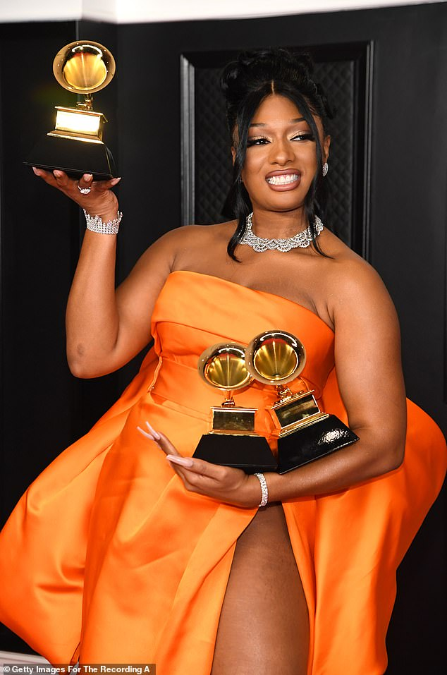 Hot in 2021:Megan Thee Stallion leads the 2021 BET Awards nominations with a whopping seven nods to her name. The 'WAP' hitmaker is among the most recognized artists for this year's BET Awards, as she is in with a chance of taking home a total of seven trophies when the ceremony takes place on June 27. Seen in March at the Grammys