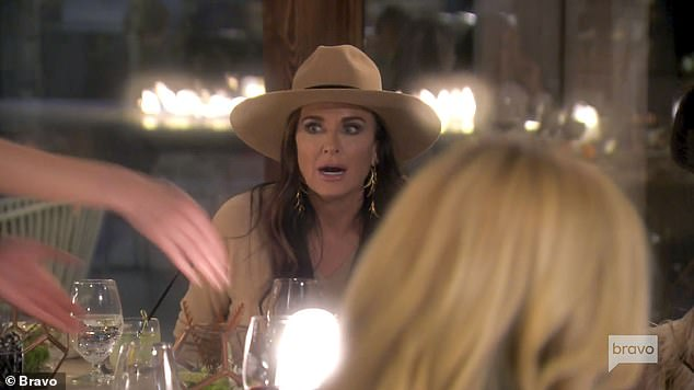 Not believing it:Kathy's sister Kylie Richards looked flabbergasted at what she just witnessed