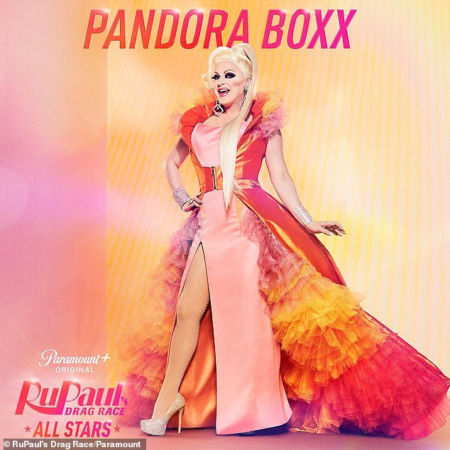 Drag veteran: At 49, Pandora Boxx is the eldest cast member of season six, having previously competed during RPDR season two and All Stars season one