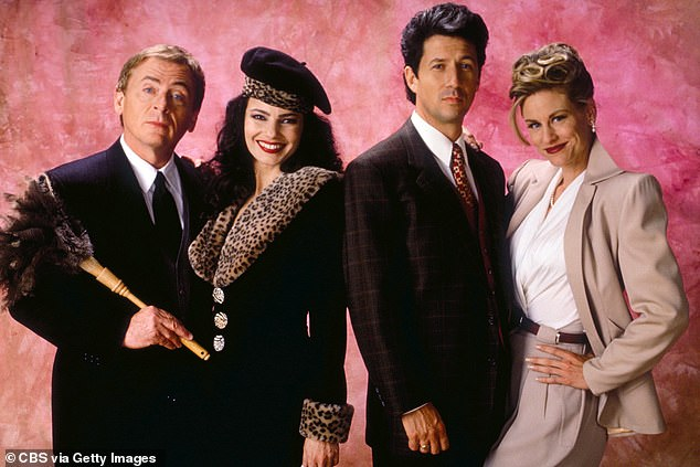 Popular:The Nanny originally ran for six seasons between 1993 and 1999. Pictured with Fran and Charles areDaniel Davis (far left) andLauren Lane (far right)