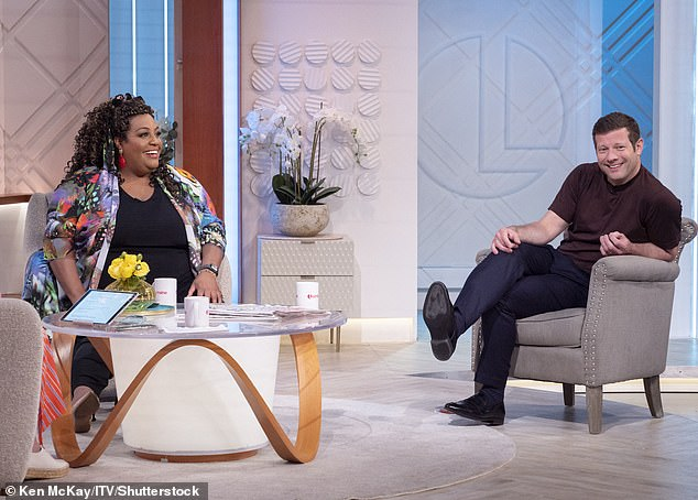 Adjusting: The pair (pictured on Lorraine on Friday) have been co-presenting This Morning together every Friday since January after taking over from Eamonn Holmes and Ruth Langsford but admit it took around two months before they were comfortable
