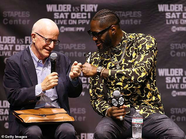 Shelly Finkel (left) is backing Deontay Wilder to stop Tyson Fury in their trilogy bout in July