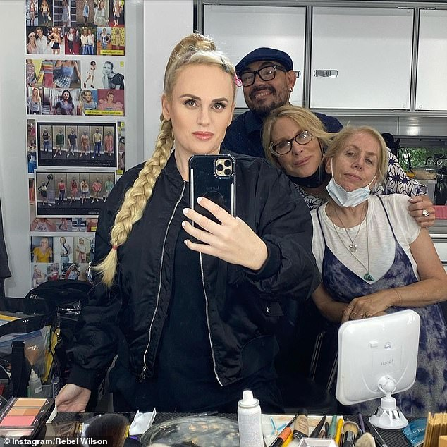 Flawless:On Saturday, Australian actress Rebel Wilson (pictured) was back at work on the set of her new film, Senior Year, and looking better than ever