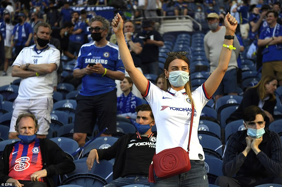 Chelsea fans chanted as they relished their first appearnce in the Champions League final since their victory in 2012