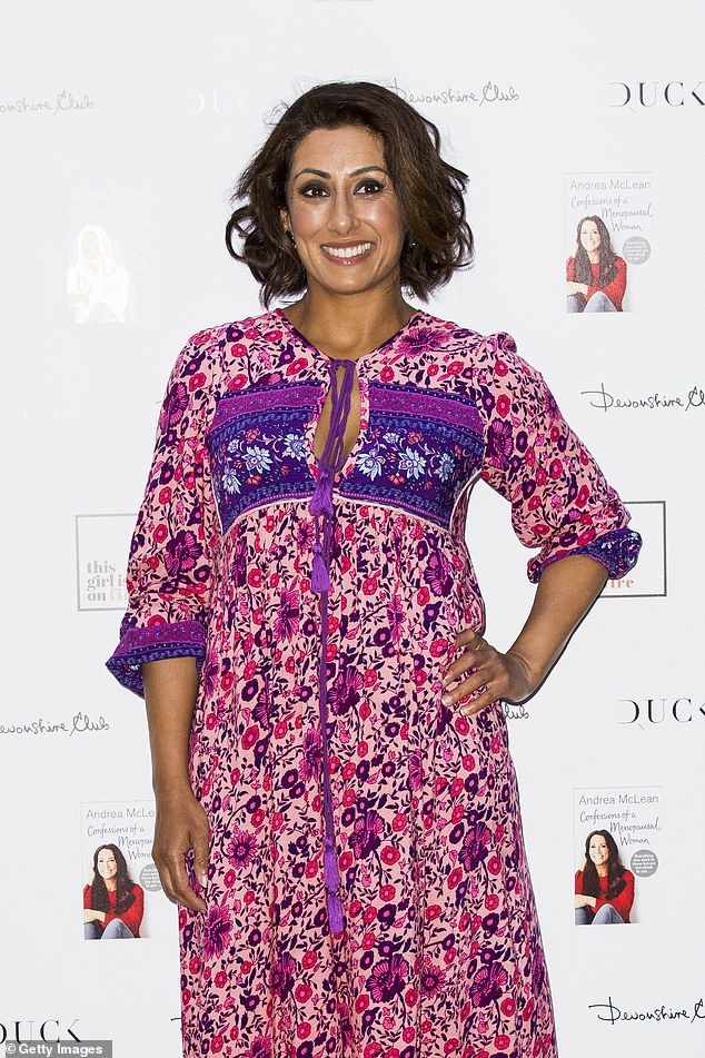 Growing up: Saira Khan, 50, has claimed she grew up 'thinking it was acceptable for men to shout at women and that hitting is part of our culture and normal'