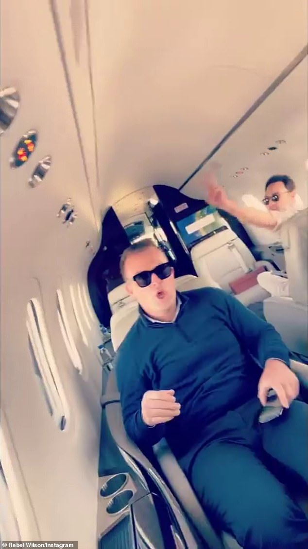 Friends: Rebel turned the camera around and filmed her fellow passengers