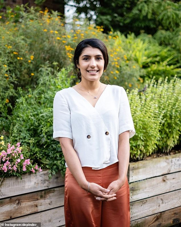 Tragic: MasterChef Australia star Depinder Chhibber (pictured) spoke to News Corp on Sunday about her anguish at being unable to visit her extended family in India due to the pandemic