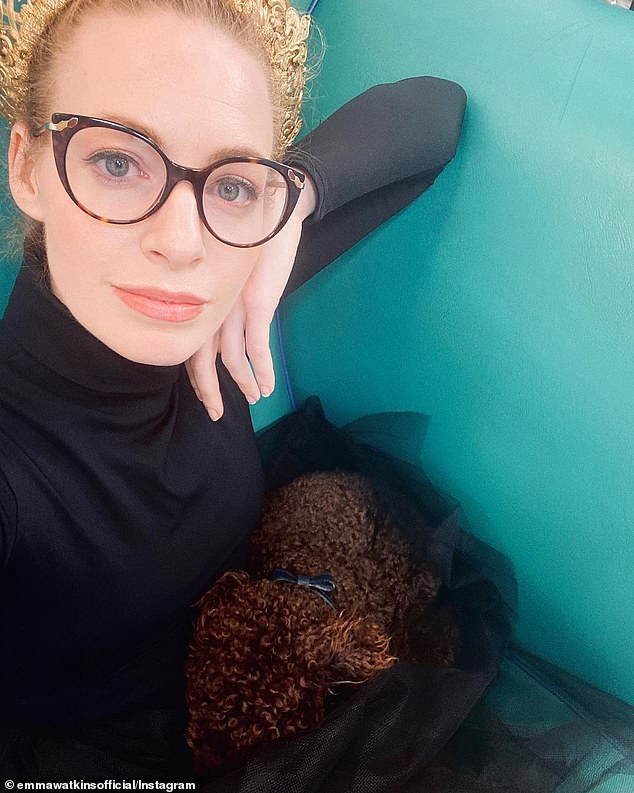 'And at that point, that's when I thought something was up': Yellow Wiggle Emma Watkins, 31, (pictured)has shared the warning signs that led to her being diagnosed with endometriosis.