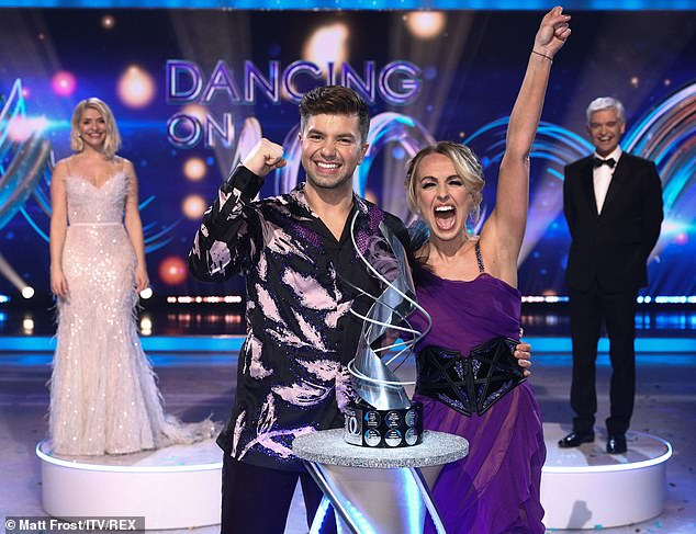Success: Sonny was crowned the winner of Dancing On Ice in March after this year's tumultuous series