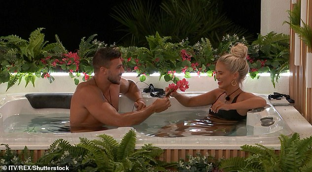 True love: The couple have been dating ever since they first met on Love Island in 2019 (pictured) and moved in together shortly after the show ended