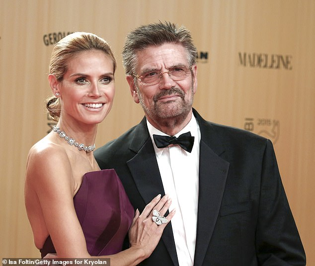 Fall out:Heidi Klum is seemingly in a legal battle with her estranged cosmetics executive father