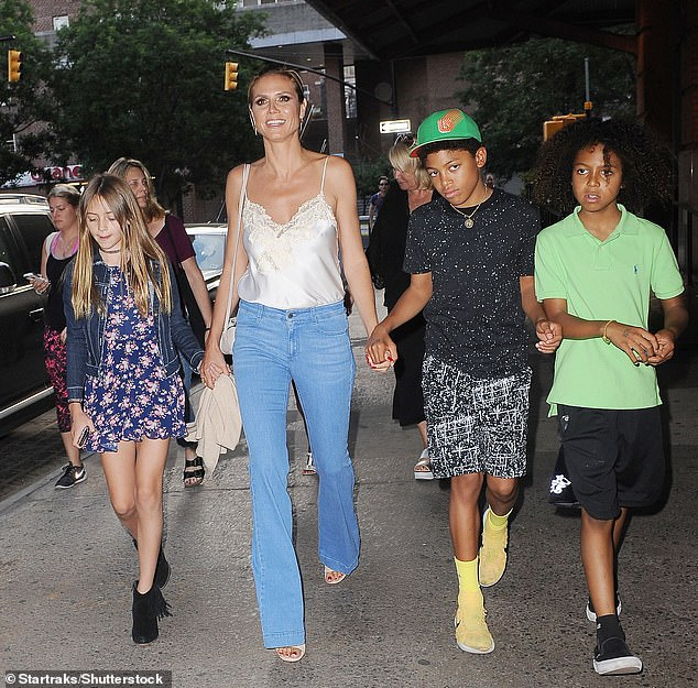 Kids: Heidi and Seal had three other children: Henry, 15, Johan, 14, and Lou, 11 [seen in 2016 - Lou is not pictured]
