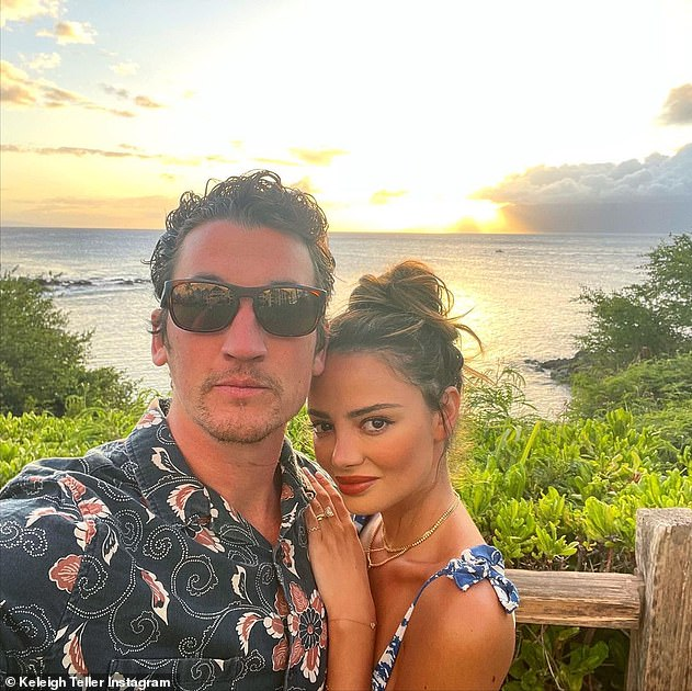 Loved up:Not seen on the outing was his 28-year-old model wife Keleigh Sperry as the Whiplash star chatted away on his cell phone during the solo trip