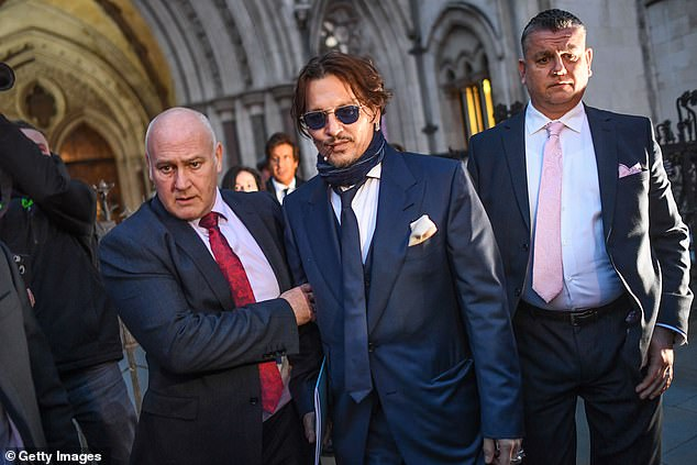 Making an argument: Amber's attorney's also listed other reasons why the case should be dismissed including the financial burden that both parties had and would continue incurred with each allegedly spending $20 million in legal fees. Depp seen in 2020 above