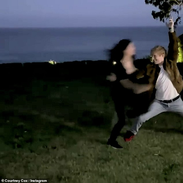 Whoops! The video ended in humorous disaster after Courteney rushed to jump into Ed's arms, but she overshot the move