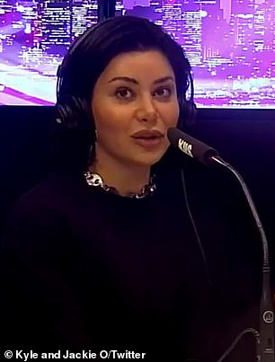 Feud: Martha Kalifatidis (pictured) called up Sunrise host David 'Kochie' Koch on live radio on Monday and demanded he apologise for sparking their 'elbowgate' feud two years ago