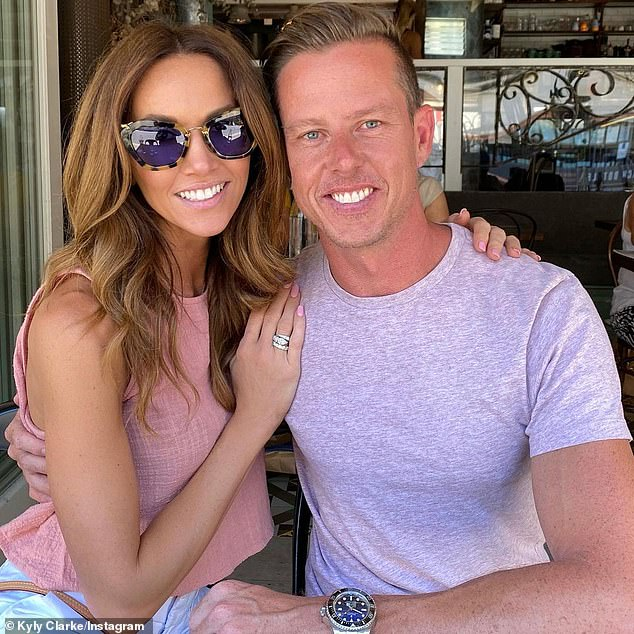 Brief romance: Kyly, meanwhile, announced in October last year she was dating V8 Supercars champion James Courtney (pictured). But their romance only lasted a few months and he's now dating Gold Coast model Tegan Woodford