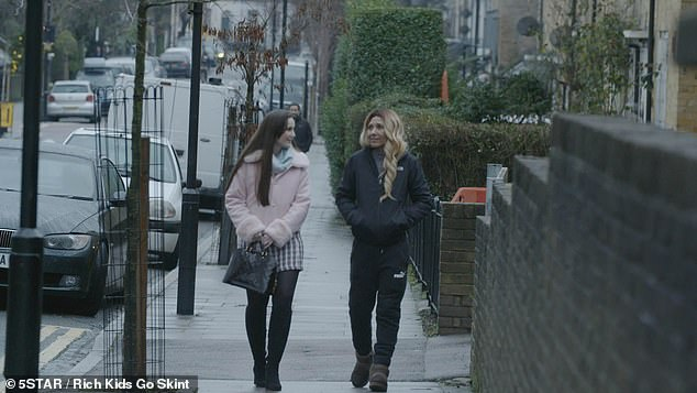 Brooke learns about the reality of life on benefits when she stays with mother-of-nine Sonya Portell, right, who says she's 'embarrassed by 'living off her kids' money'