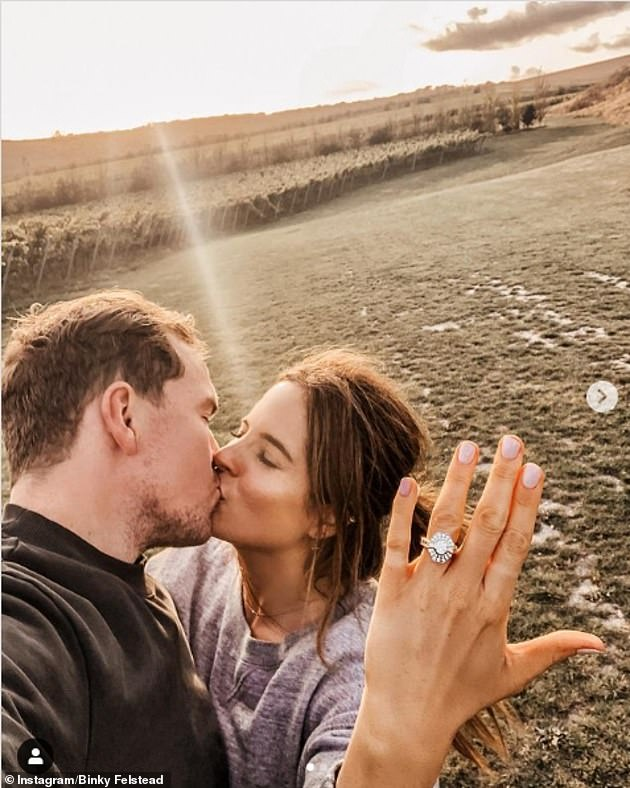 Husband and wife to be: The couple became engaged last September after 19 months of dating