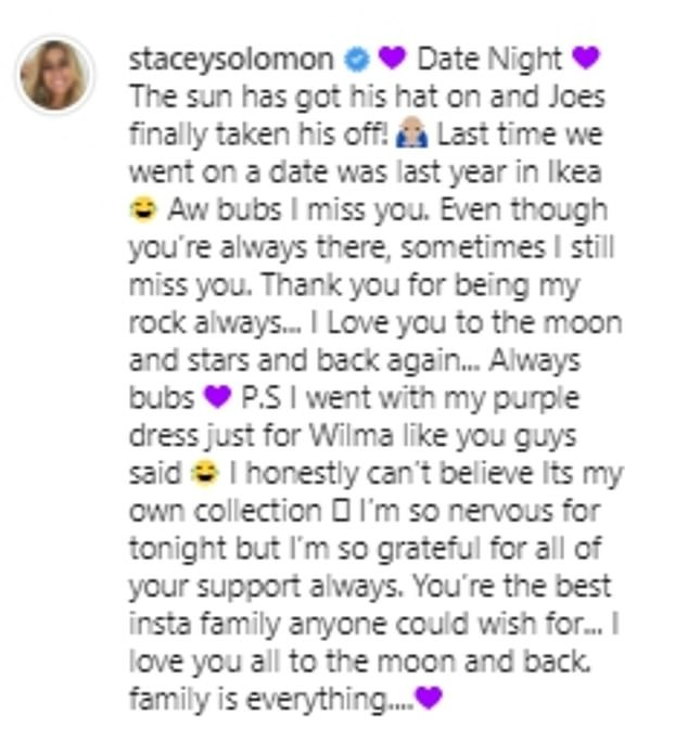 Candid:Stacey also admitted that she was 'nervous' as the date night also coincided with the launch of her new collection with In The Style on Monday