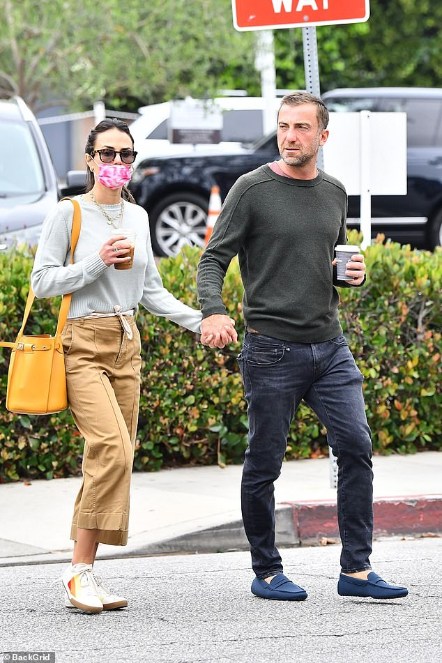 Out and about: The 41-year-old actress strolled hand in hand with her beau of one year ahead of the release of F9 where she reprises her role as Mia Toretto