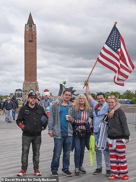 Wantagh, New York: Crowds arrived at Jones Beach for the Bethpage Air Show on Monday after it was rained out for the previous two days