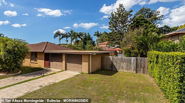 Brisbane's median house prices edged up by 2.2 per cent in May and have this year climbed by 9.5 per cent to $641,727. Pictured is a house at Chermside on the market for $679,000