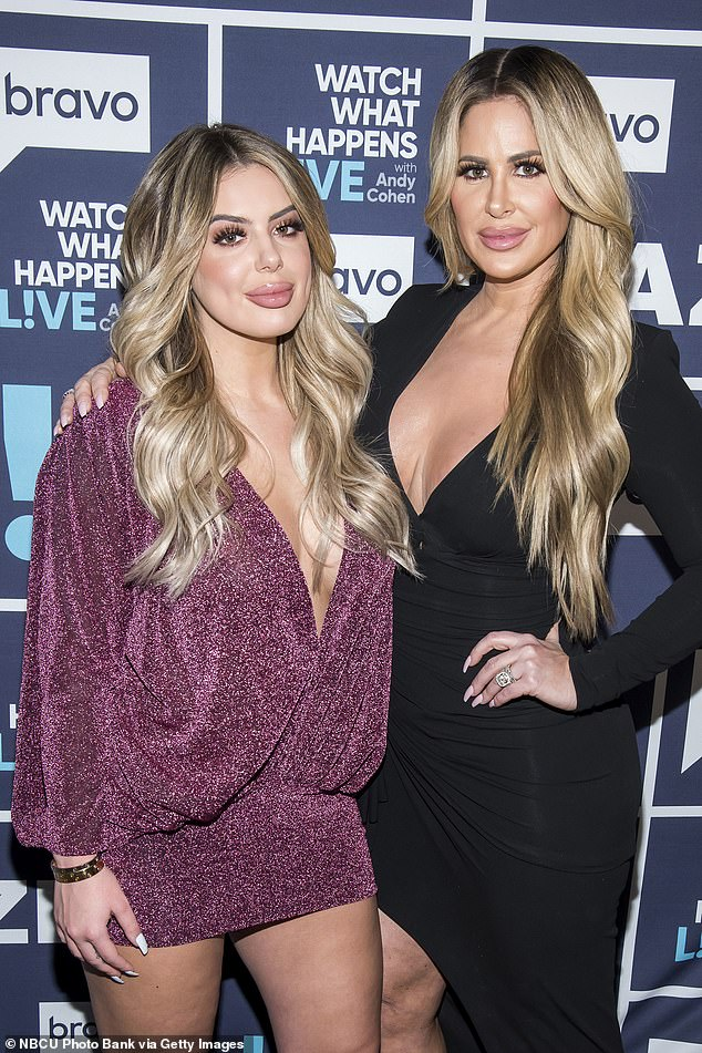 Reality stars:Page Six reported that the family's reality show was cancelled after eight seasons on air but Kim has shared that a new show called Biermann Bunch is in the works; pictured July 2019