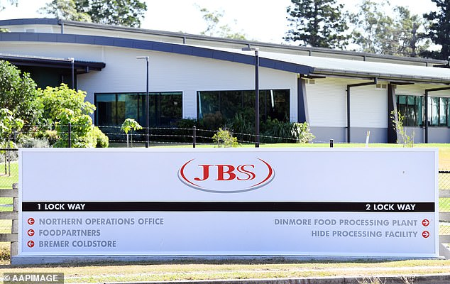 The entrance to the JBS Australia's Dinmore meatworks facility, west of Brisbane. JBS operates in 15 countries worldwide, employing 250,000 people
