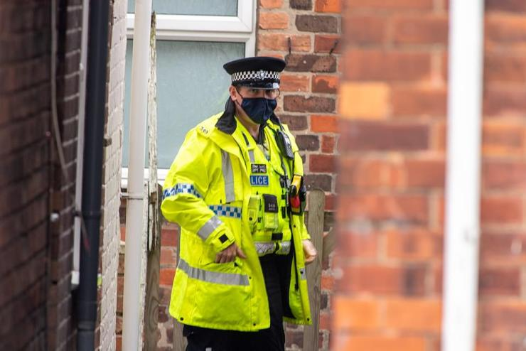 It came hours after the 26-year-old woman - believed to be Boulton's partner - and her nine-year-old son were found dead at an address around 8.30pm last night (police at the scene today)
