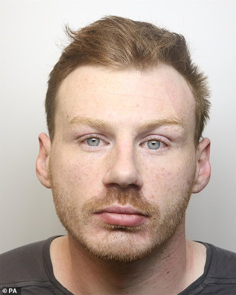Daniel Boulton (pictured) was arrested in Louth, Lincolnshire, after police launched a 16-hour manhunt this morning - in which they warned the public not to approach the 29-year-old amid fears he could be 'dangerous'