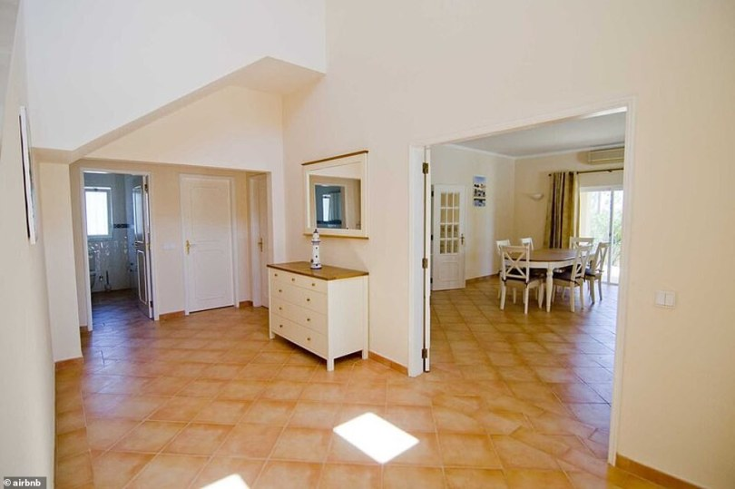 Spacious: Much of the villa is open plan with a spacious kitchen and a large dining area with sliding doors leading onto the patio