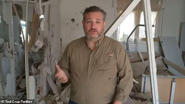 Senator Ted Cruz released a video Tuesday morning from a home in Ashkelon, Israel that was destroyed by a rocket from Hamas in Gaza