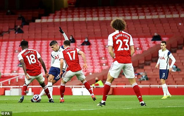 Erik Lamela's inspired rabona goal for Tottenham against Arsenal is also included in the field