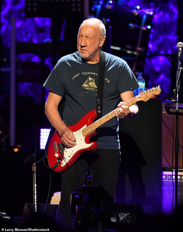 Music to his ears: Pete Townshend has revealed he believes he was once pansexual and was ready to fall into bed with 'anyone' during The Who's heyday