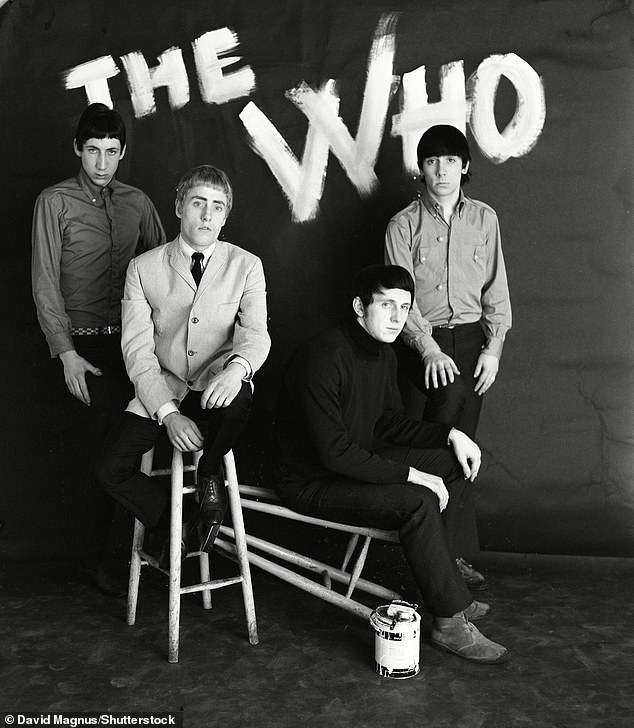 A Who's who: The Who members pictured include Pete, Roger, John Entwistle and Keith Moon