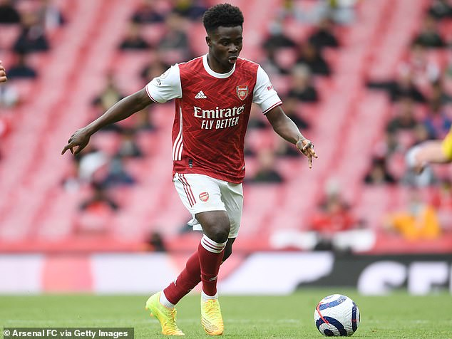 Bukayo Saka is in the running after becoming one of Arsenal's key players in a torrid campaign