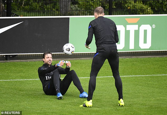 Norwich star Tim Krul (left) is expected to start in goal for the Netherlands this summer