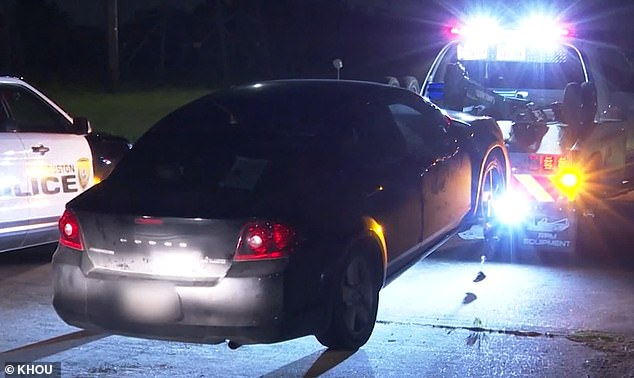 Police on Monday impounded this Dodge sedan from an apartment complex that is connected with a friend of Balboa's