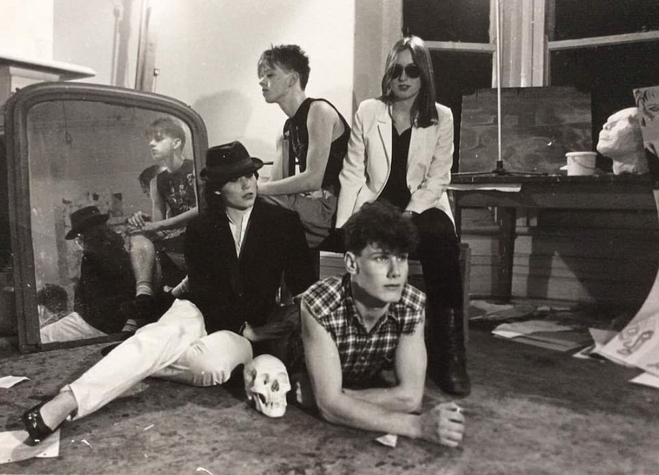 Sir Keir Starmer (bottom right) pictured in a 1980s throwback snap posted on Twitter by Piers Morgan ahead of the airing of the Labour leader's ITV Life Stories interview tonight