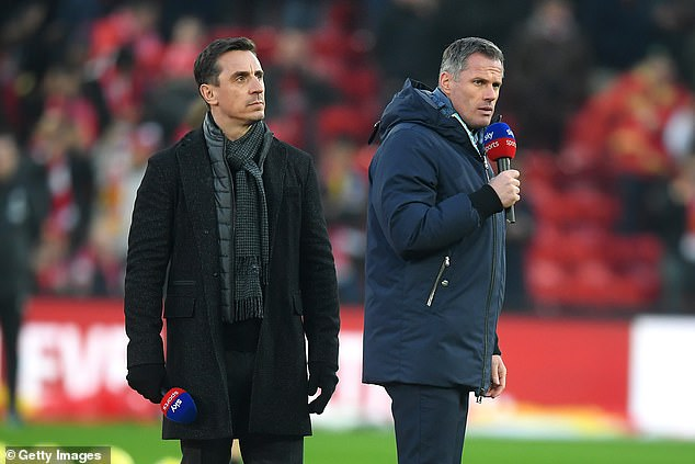 Ex-England star Gary Neville was pleased to see four right-backs in Gareth Southgate's squad and joked about Jamie Carragher's claim that 'no-one wants to grow up to be Gary Neville'