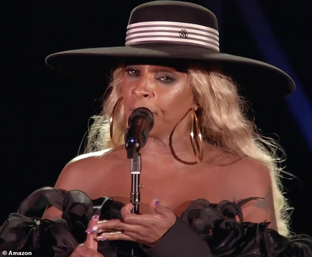 Warm words:During one gig she told the crowd: 'If you're here tonight and you're a Mary J. Blige fan, you have been tested, you have been tried and you have been proven'