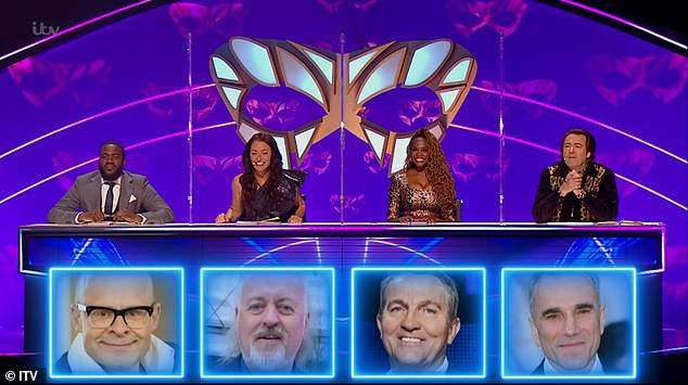 Wrong!The judges - made up of Jonathan , Mo , Davina and Oti - were all wrong with their guesses which included the likes of Bill Bailey, Bradley Walsh and Harry Hill