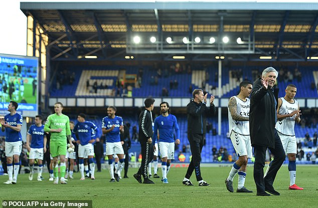 Ancelotti had succeeded in establishing a very good relationship with the Everton squad