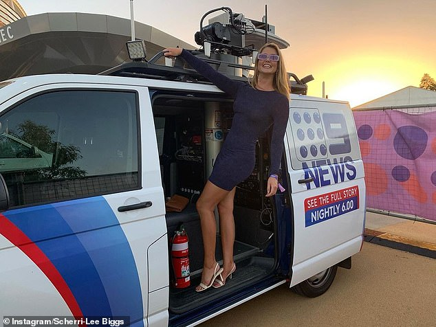 Working hard: The 30-year-old currently works as a weather girl for Channel Nine in Perth