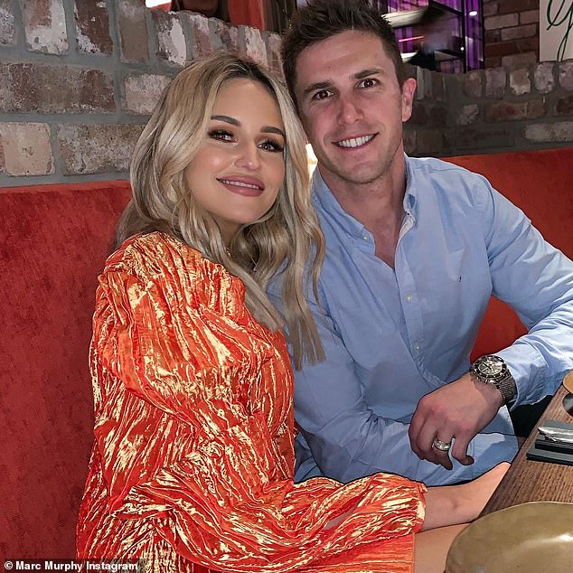 Going strong: The Melbourne-based pair married in a lavish ceremony in December 2016 at Luminare, that featured sweeping views of the city.They are believed to have started dating in 2011